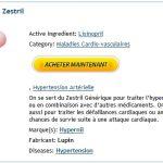 Site Commande Zestril Medicaments. Pharmacie Argenteuil
